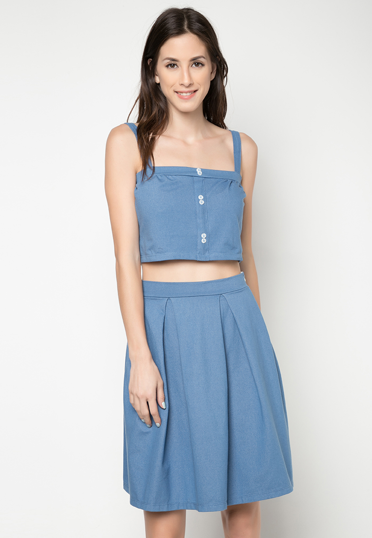 Folded and hung cocktail dress