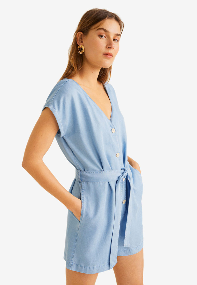 Wonderbaarlijk Shop Mango Soft Buttoned Playsuit Online on ZALORA Philippines SX-77